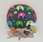 Cotton Coin bag Shell shape Elephant Printed Clutch Cosmetic Make-up Purse Walle