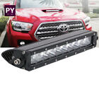 11INCH Slim LED Light Bar For Hood Scoop 16+ Toyota Tacoma + Remote Wirings 10