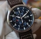 IWC Pilot Steel Automatic 43mm Midnight Blue Dial Chronograph Watch IW377714 NEW