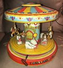 Vtg1950s Chein Playland Merry Go Round Carousel 385 Tin Litho Wind Up Toy