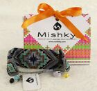 NWT MISHKY RAYS BRACELET GLASS BEADS TURQUOISE BLUE BLACK HANDMADE in COLUMBIA