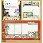 Basic Grey Oxford Page Scrapbook Kit First Day of School