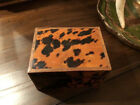 Vintage Faux Tortoise Shell Wood Box