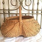 """ Beautiful Primitive Antique Splint Buttocks Basket AAFA"