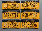 ONE NEW YORK EMPIRE STATE LICENSE PLATE RANDOM LETTERS NUMBERS FREE SHIPPING