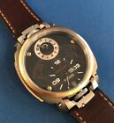 Anonimo Firenze Dual Time Drass and Gold Model 2009 Box and Papers Extra Strap