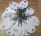Plastic Oval Snap ring Key tags d 101 120 Set of 20 New