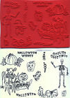unmounted Halloween rubber stamps Skeleton RIP Fright night 12 images