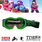 GREEN Frame Boy Girl Kids Snowflakes Motorcycle GOGGLES Outdoor Skiing Sunglasse