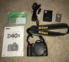 Nikon D40x DSLR camera body only + Charger Mint Condition Rarely Used