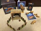 5 Fontanini Village Sheep Corral 5 Sheep  Gabriel Figurines + 2 Story Cards