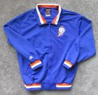 NY METS MEN LARGE COOPERSTOWN FULL ZIP JACKEY POLYESTER MR.MET PATCH BLUE MLB