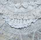 Big Vintage Doily Lot of Hand Crochet Lace LARGE WHITE DOILIES 14 to 22 NR
