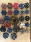 LOT OF WATER VALVE FAUCET HANDLES VINTAGE INDUSTRIAL KNOB STEAMPUNK (A25)
