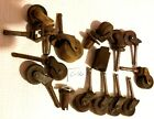 Wooden wheel Casters Lot vintage Furniture Rollers c-16
