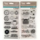 Jillibean Soup Lot Of 2 Just My Type  Coffee And Donuts Clear Stamp Sets