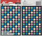 1 PACK OF STARS AND SMILEY FACE STICKERS NEW SEALED 10 SHEETS