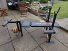York 6602 Fitness Bench + Weights