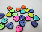 Jesse James / Dress it Up Sew Through Butttons Small Hearts - Assorted Colors