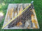 Vintage 10 foot Tow or logging Chain metal art rusty metal (#2)