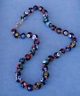 VINTAGE MURANO GLASS BIG MILLEFIORI BEADS NECKLACE
