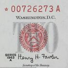 $2 1963A Star CU red seal US Note *00726273A series A, two dollar, FREE SHIPPING