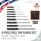 9pc Professional Roll Pin Spring Punch Set Gunsmith Jewelers Carpenter Forged