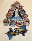 NASA Space Shuttle Mission Collage Large Patch 2 Bonus Patches