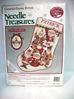 UNOPENED FolkArt Santa Christmas STOCKING 02935 Personalize CCross Stitch