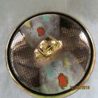Mid Century Modern Gilded Multi Color Art Lidded Candy Dish - Germany