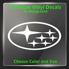 Subaru Logo Vinyl Decal 6 Star - Subaru Emblem Sticker Wrx Sti - Rally Racing
