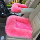 Us Auto Car Sheepskin Long Wool Seat Cushion Cover Soft Warm Chair Pad Covers