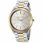Michael Kors MK3198 Slim Runway Silver Dial Gold/Silver Two tone Unisex Watch