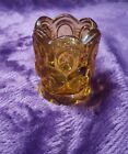 LE Smith Moon and Stars Amber Toothpick Holder