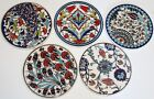 Set of 5 Round 6 1 2 Turkish Iznik Pattern Ceramic Tile Hot Plate Trivet