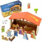 Toddler Girl Toys Playset 14 piece Christmas Holiday Nativity Kids Toys Playset