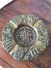 Portugal Solid Brass Trench Art Ashtray