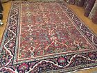 Antique Oriental Rug Persian Mahal Rug All Over Design Red 10'5