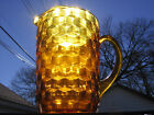 Vintage Gold Whithall Stacked Cube Pitcher Tea Cubist Glass 60 ounce