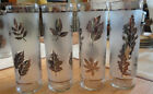 4 VINTAGE RETRO LIBBEY AUTUMN LEAF SILVER TOM COLLINS GLASSES EXCELLENT
