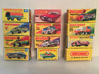 LOT OF 12 MATCHBOX DIECAST TOY BOXES 11 LESNEY