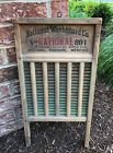 Vintage Washboard National Washboard Company The Brass King Top Notch No. 801