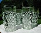 Indiana Glass Diamond Point 15 Oz Tumbler Water Glasses Set Of 6