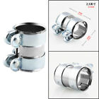 Car Turbo Exhaust Downpipe Catback Muffler Tube Metal 25 Flanges Clamp+Bolts