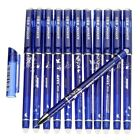 Erasable Gel Pen 05 Mm Tip Refill Stationery Writing Pens Slim For Student 12PC