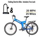 X Treme Scooters 36 V X Cursion FOLDING Electric Bike Lithium Battery BLUE