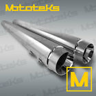 HARLEY TOURING BAGGER SLIP ON MUFFLERS EXHAUST PIPES FITS 2017 UP CHROME SET
