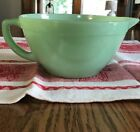 Vintage FireKing Jadeite Batter Mixing Bowl With Handle And Spout.