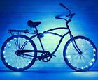 2 Pack Ultra Bright LED Bike Wheel String Assorted Colors Tire Accessories