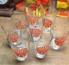 Set of 8 Mint Retro 1950 / 1960's Orange Slice Juice Glasses Ikea - GREAT SET!